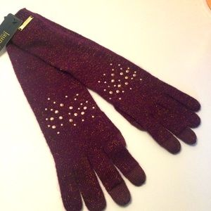 LAUNDRY by Shelli Segal Embellished Long GLOVES